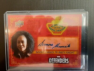 2018 Upper Deck Marvel Defenders AUTO  Simone Missick as Misty Knight - A 1:215