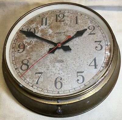 Large Vintage Magneta Wall Clock