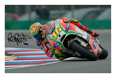 Valentino Rossi Signed Autograph Photo Print Poster Photograph Superbike