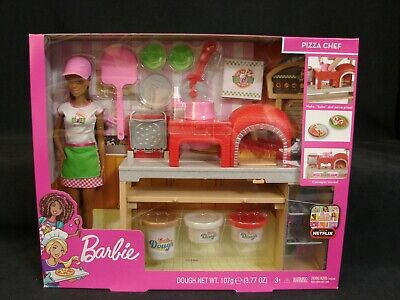 Barbie Pizza Chef Playset African American Doll New 2018