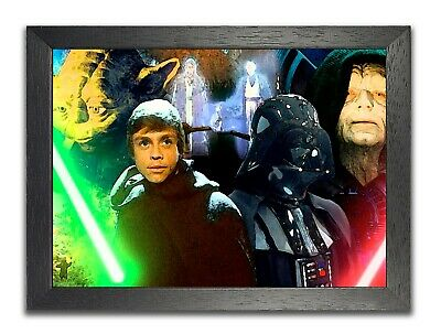 Star Wars Fresco Retro Epic Space Opera Film Poster Characters Photo Sky Picture