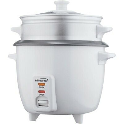 New Brentwood Appliances TS-480S Rice Cooker with Food Steamer (15 Cups, 900 Wat