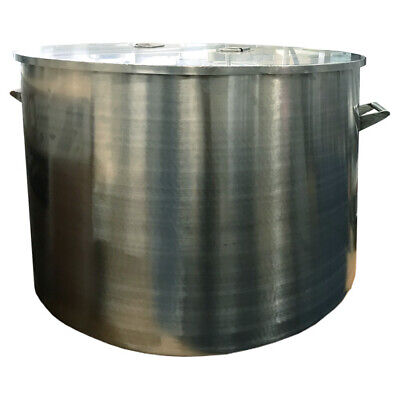 Large Stainless Steel Stock Pot with Lid (300 Litres)