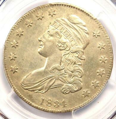 1834 Capped Bust Half Dollar 50C O-121 - PCGS AU Details  - Rare Certified Coin!