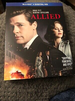 Allied (Blu-ray 2017) LIKE NEW!! Brad Pitt. NO DIGITAL