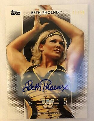 2017 Topps WWE Womens Division Autograph BETH PHOENIX Auto #77/99