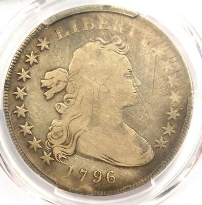 1796 Small Eagle Draped Bust Silver Dollar $1 Coin - Certified PCGS VG Detail!