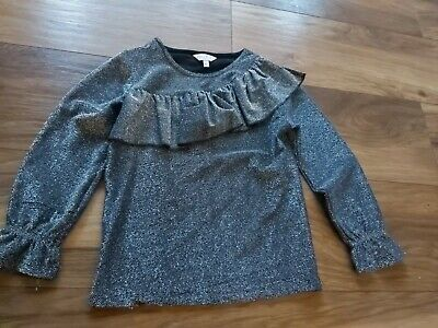 Girls Outfit Black  /silver girl top age 6 years