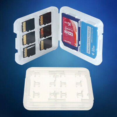 Slots Storage Case Transparent Box Holder For Micro SD TF SDHC MSPD Memory Card