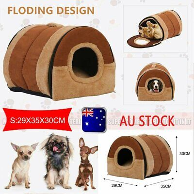 Pet Dog House Kennel Soft Beds Cave Cat Puppy Bed Warm Cushion Fold S j1