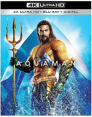 Aquaman (4K ULTRA HD + BLU-RAY+ DIGITAL) NEW + FREE  SHIPPING