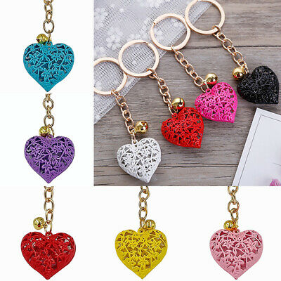 Hollow Love Heart Key Chains Handbag Pendant Keyring Jewelry Accessories Gift