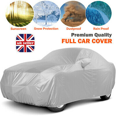 Heavy Duty Waterproof Full Car Cover UV Protection Outdoor Breathable Large Size