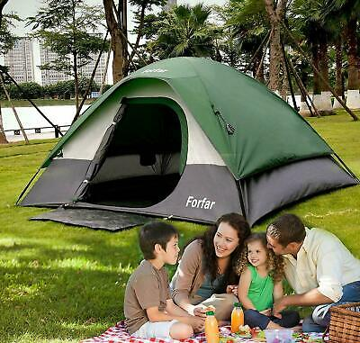 3-4 Person Outdoor Camping Hiking Waterproof 4 Season Family Tent Double layer