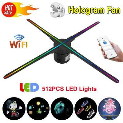3D WiFi Holographic Projector Hologram Fan 512 LED Lamp Advertising Player 70CM