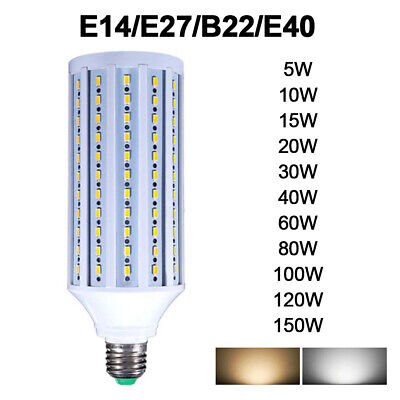 E27 E14 E40 B22 SMD 5730 LED Corn Bulb Light Lamp 15W 20W 30W 40W 60W 80W 100W