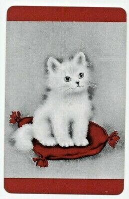 CATS vintage Playing cards swap card brown
