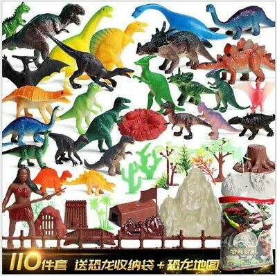 110 Piece Dinosaur Play Set: Ultimate Educational Figures Toy Realistic Kids