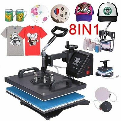 Promotion double display 30*38CM 8 in 1 Combo Heat press Machine Sublimation Pri