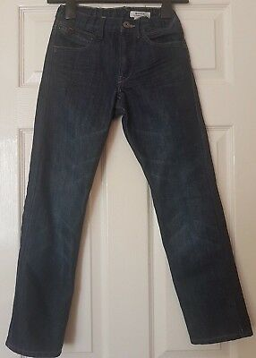 H&M Boy's Blue Elasticated Waist Slim Jeans Trousers Size 9-10 Years EUR 140