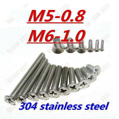 M2 M2.5 M3 M4 M5 M6 Stainless Steel Phillips Countersunk Flat Head Screw Bolt