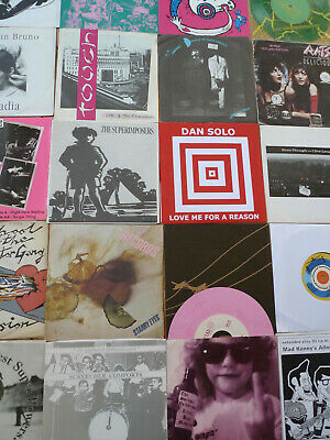"INDIE ALTERNATIVE NEW WAVE PSYCHE ELECTRONIC 20x7"" Single Job Lot (2)"