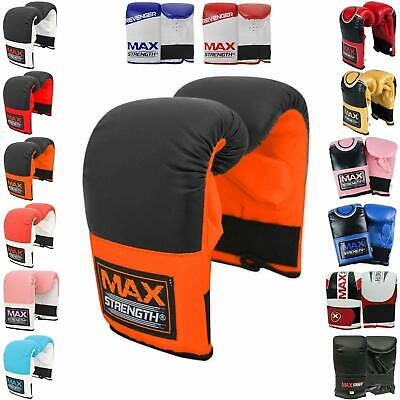 MaxStrength Bag Mitts Boxing Gloves UFC Muay Thai Training Punch Sparring MMA