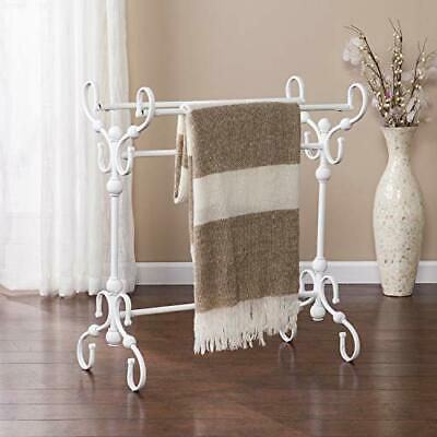 Lourdes Blanket Rack - White