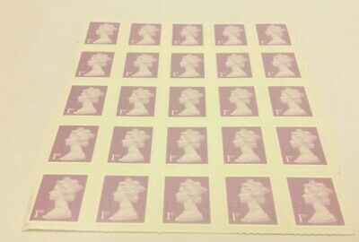 25x 1st Class Stamps - BRAND NEW on sheet - self adhesive - Purple