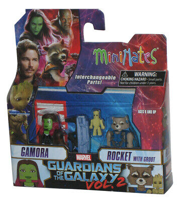 Marvel Minimates Series 71 Guardians of the Galaxy Vol 2 Rocket Raccoon /& Groot