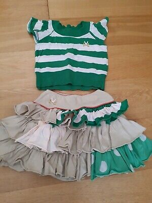No Added Sugar Girls Outfit Top And Flounce Skirt Age 3 Years