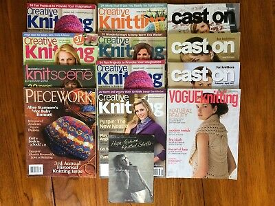 Vogue Knitting Cast On For Knitters Creative Knit Scene Piecework Magazine LOT