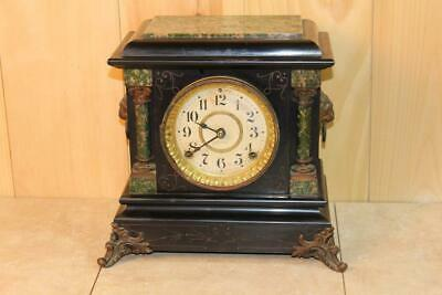 Antique Seth Thomas Adamantine Mantle Clock ~ Running ~ Circa 1900