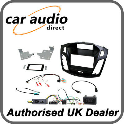 Connects2 CTKFD64 Ford Focus 2015> Black Double DIN Radio Installation Kit