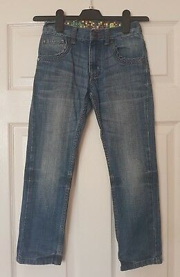 Blue Zoo Boy Blue Denim Faded Jean Trousers Size Age 8