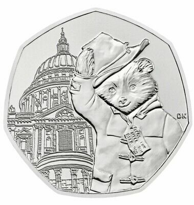 2019 UNCIRCULATED PADDINGTON BEAR AT ST PAULS CATHEDRAL 50P COIN BU New