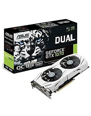 ASUS NVIDIA GeForce GTX 1070 8 GB DUAL OC VR Ready White Graphics Card