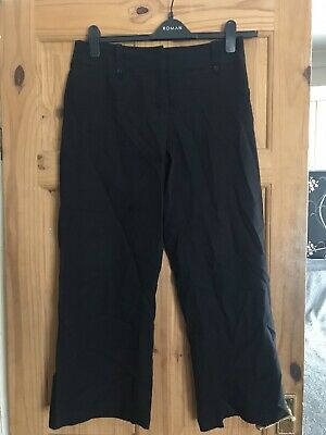 Ladies Girls Black Trousers Sz 12 Bootcut Good Cond Smart!