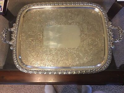 Antique George lll English Sheffield Plate Tray C-1830