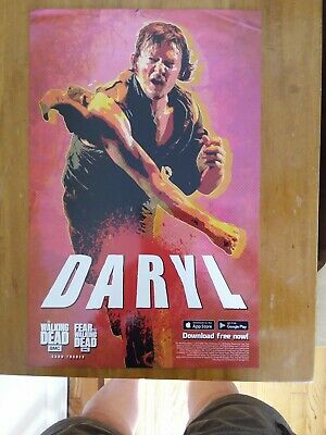 "NYCC 2019 WALKING DEAD ""DARYL"" TOPPS POSTER with Digital Download** HUGE LOT**"