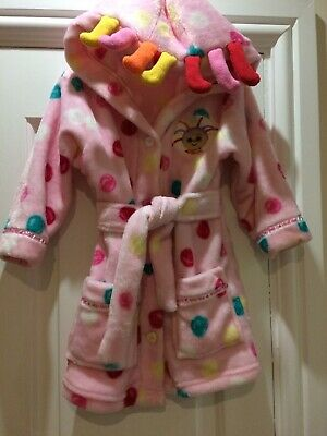 Girls Upsy Daisy Dressing Gown Age 12-18 Months