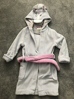 Joules Girls Horse Hooded Dressing Gown Age 5 - 6 Yrs