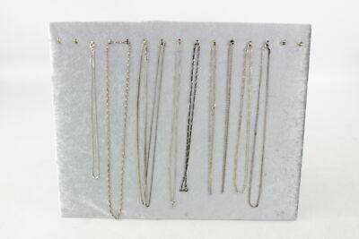 10 x Vintage .925 Sterling Silver CHAINS inc. Mixed Curb, Fancy, Box (54g)