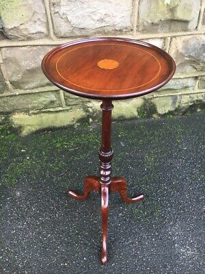 Edwardian Inlaid Mahogany Tripod Wine Table