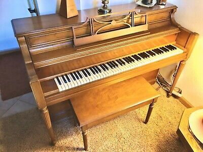 PIANO STORY & Clark Upright With Original Bench - $990 00