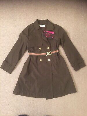 Young Versace Girls Mac - Age 7 - olive green - BNWT - authentic