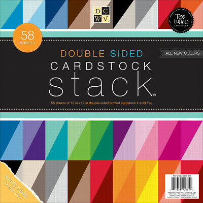 Neutrals /& Pastels DCWV Cardstock Stacks Combo 58 Sheets Each 12 x 12 inches
