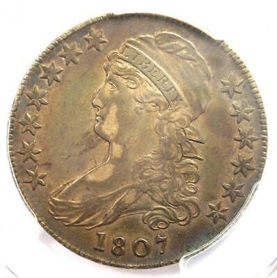 1807 Capped Bust Half Dollar 50C Coin 50/20 - PCGS XF40 CAC - $1,600 Value!