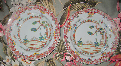 Rare Valentine Pattern, Famille Rose Chinese export porcelain soup plate 1760