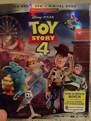 Toy Story 4 (Blu-ray + DVD, No DC 2019) with Slipcover